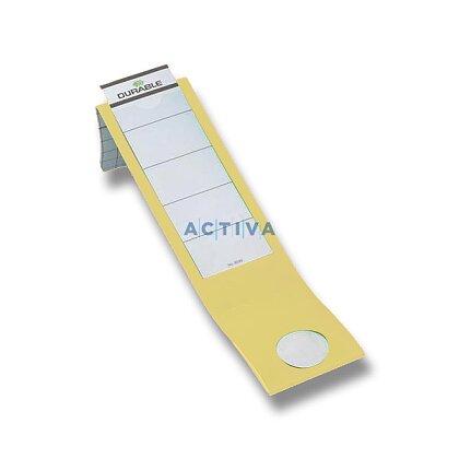 Obrázek produktu Durable - samolepicí náhradní hřbet - 60 mm, žlutý