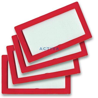 Obrázek produktu Tarifold Display Frame - samolepicí prezentační rámeček - 80×45 mm, 4 ks, červený