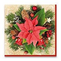Vánoční ubrousky Hvězda