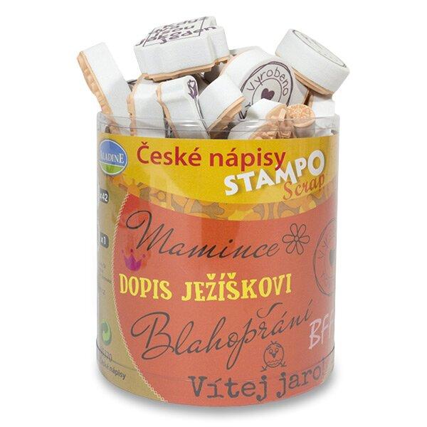 Razítka Stampo Scrap České nápisy, 35 ks
