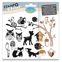 Razítka gelová Stampo Clear - Lesní zvířátka
