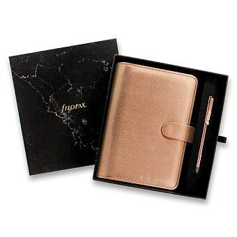 Obrázek produktu Osobní diář Filofax Saffiano A6 Rose Gold - dárková sada s perem