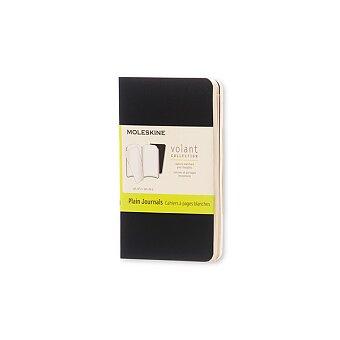 Obrázek produktu Zápisník Moleskine Volant - XS, čisté, 2 ks, černé