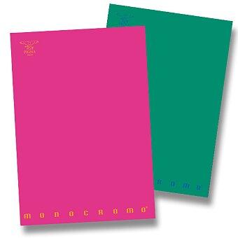 Obrázek produktu Školní sešit Pigna Monocromo - A4, čtverečkovaný, 40 listů, mix barev