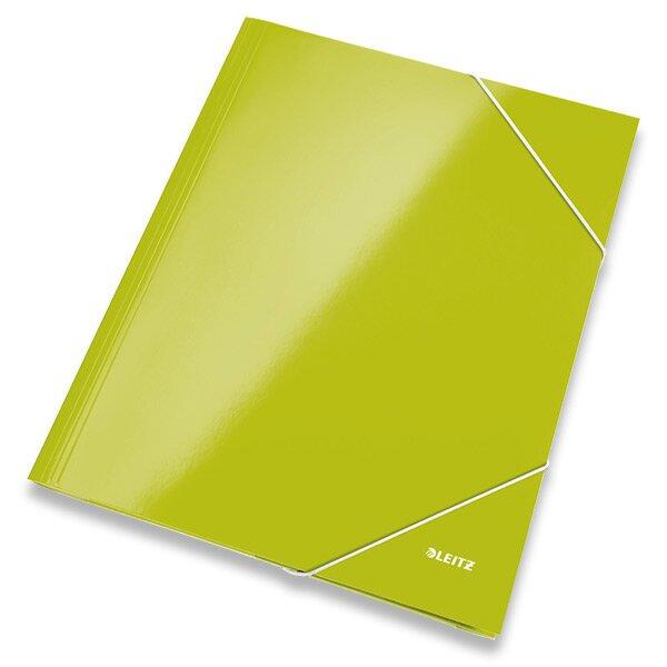 3chlopňové desky Leitz Wow zelené