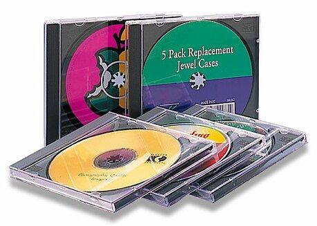 Obrázek produktu Krabička na CD Staples Jewel Case - 5 ks