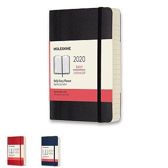 Obrázek produktu Diář Moleskine 2020 - měkké desky - S, denní, výběr barev