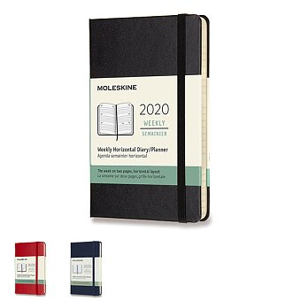 Obrázek produktu Diář Moleskine 2020 - tvrdé desky - S, týdenní, horizontální, výběr barev