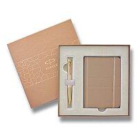 Parker Urban Premium Golden Pearl - sada kuličková tužka a zápisník