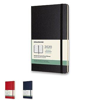 Obrázek produktu Diář Moleskine 2020 - tvrdé desky - L, horizontální týdenní, výběr barev