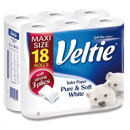 Obrázek produktu Veltie Pure & Soft White - toaletní papír - 3-vrstvý, 18 ks