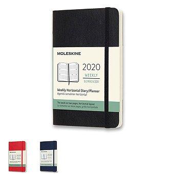 Obrázek produktu Diář Moleskine 2020 - měkké desky - S, týdenní, horizontální, výběr barev