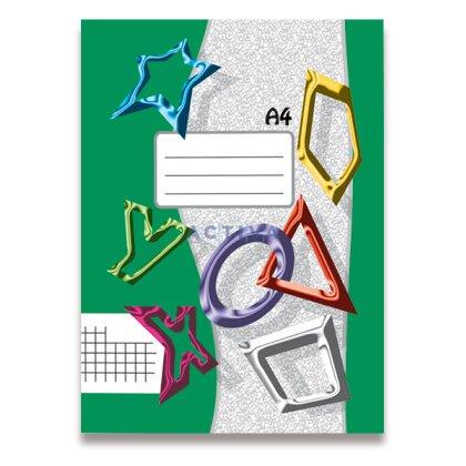 Obrázek produktu Papírny Brno - sešit recyklovaný 445 - A4, 40 l., čtverečkovaný