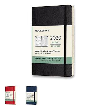 Obrázek produktu Diář Moleskine 2020 - měkké desky - S, týdenní, výběr barev