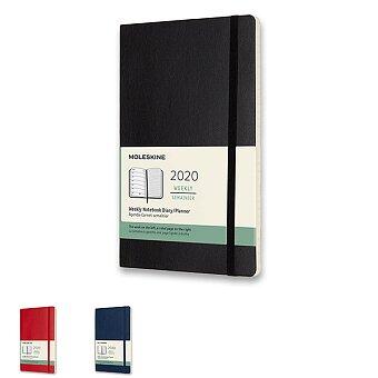 Obrázek produktu Diář Moleskine 2020 - měkké desky - L, týdenní, výběr barev