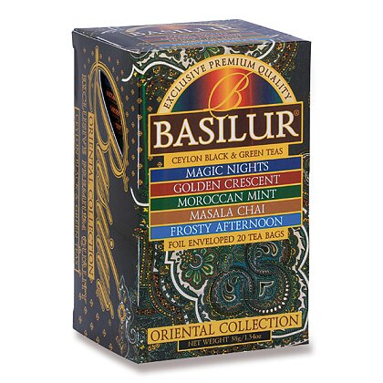 Product image Basilur - a mixture of black and green teas - Orient Assorted, 20 × 2 g + 5 × 1.5 g