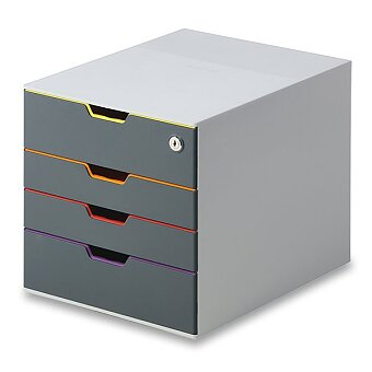 Obrázek produktu Uzamykatelný box Durable Varicolor - 4 zásuvky