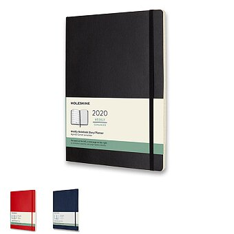 Obrázek produktu Diář Moleskine 2020 - měkké desky - XL, týdenní, výběr barev
