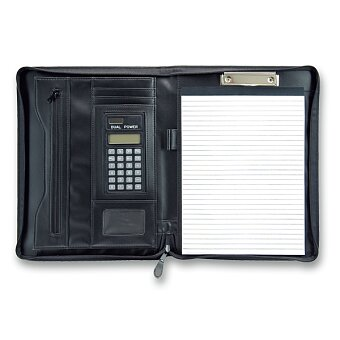 Obrázek produktu Koženkové portfolio PP Beta s kalkulačkou - pro A4, včetně kalkulačky a bloku