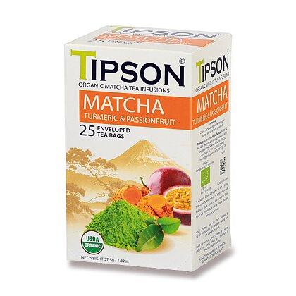 Obrázek produktu Tipson - bylinný čaj - BIO Matcha Turmeric & Passion Fruit, 25 x 1,5 g
