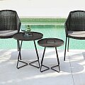 Židle Cane-Line Breeze Armchair, stolky On the Move