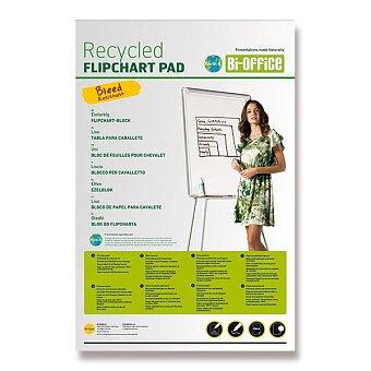 Obrázek produktu Blok do flipchartu recykl - 65 x 98 cm, 50 listů, čistý, výběr gramáží