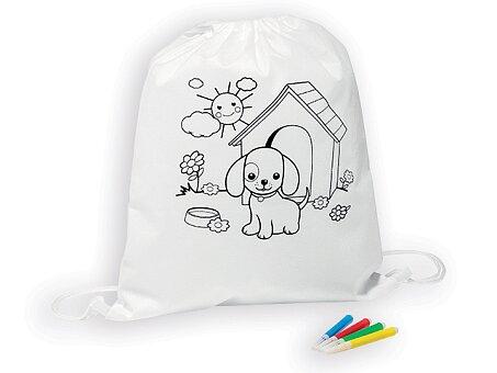 Obrázek produktu BARKIN - stah.batoh pro děti z net.textilie se 4 fixami