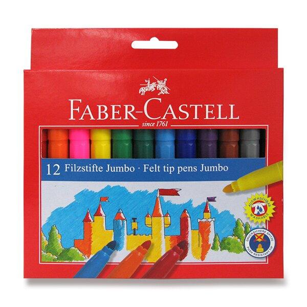 Dětské fixy Faber-Castell Jumbo 12 barev