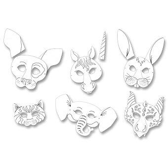 Masky zvířat Folia - kůň, pes,kočka,slon,zajíc,drak