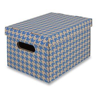 Obrázek produktu Úložná krabice Emba s nosností 50 kg - 30 x 22,5 x 20 cm, modrá
