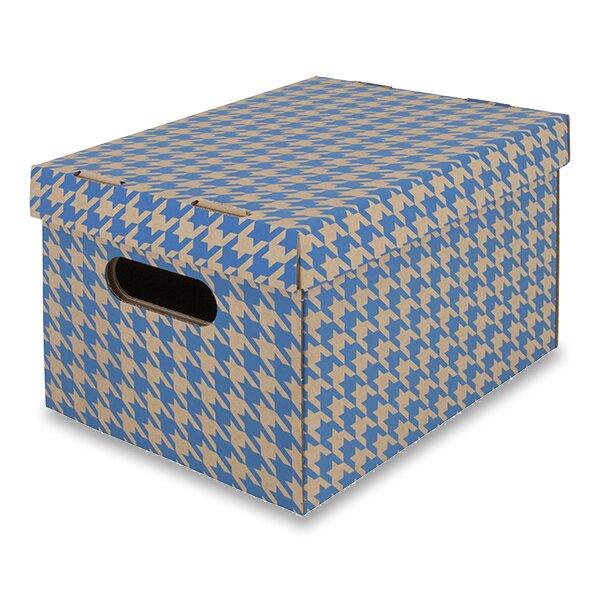 krabice modrá