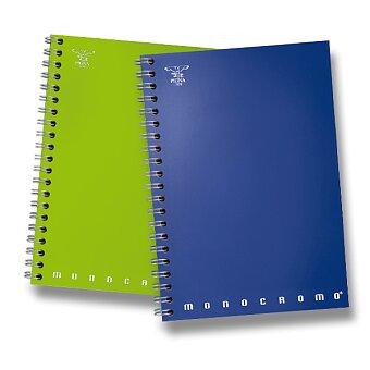 Obrázek produktu Kroužkový blok Pigna Monocromo - mix barev - A5, linkovaný, 70 listů