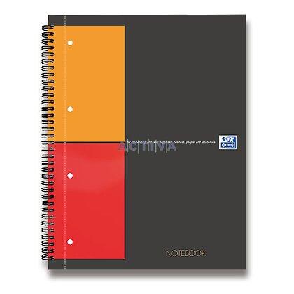 Obrázok produktu Oxford Notebook - krúžková záznamová kniha - A4, 80 l., štvorčeková