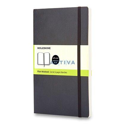 Obrázok produktu Moleskine - zápisník v mäkkých doskách - 9 x 14 cm, čistý, čierny