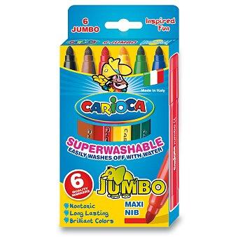 Obrázek produktu Dětské fixy Carioca Jumbo - 6 barev