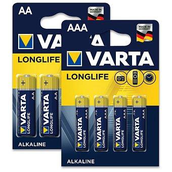 Obrázek produktu Alkalické baterie Varta Longlife - 4 ks, AA nebo AAA