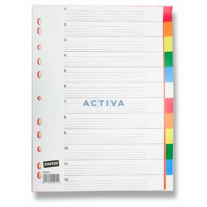 Obrázek produktu Staples - barevný rozlišovač - 12 listů