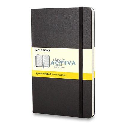 Obrázok produktu Moleskine - zápisník v tvrdých doskách - veľkosť S, štvorčekový, čierny