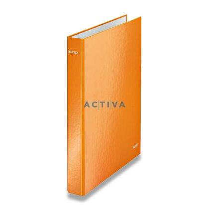 Obrázek produktu Leitz Wow - 4-kroužkový pořadač - A4, 40 mm, oranžový
