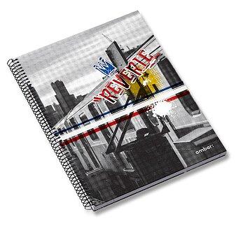 Obrázek produktu Kroužkový blok Ambar Reverie - A4, linkovaný, 120 listů, mix motivů