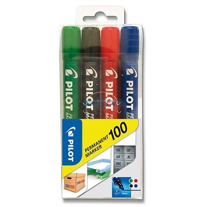 Obrázek produktu Pilot 100 - permanentní popisovač - 4 barvy