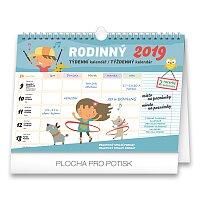 Týdenní rodinný plánovací kalendář 2019