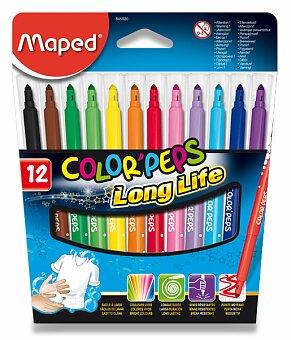 Obrázek produktu Dětské fixy Maped Color'Peps Long Life - 12 barev