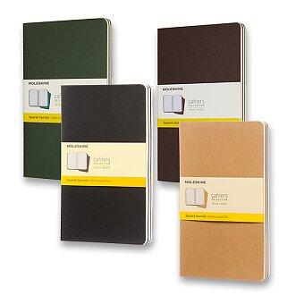 Obrázek produktu Notes Moleskine Cahier - tvrdé desky - L, čtverečkovaný, 3 ks, výběr barev