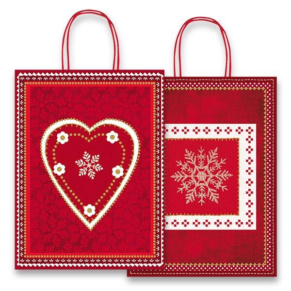 Dárková taška Fantasia Red & White 360 x 120 x 460 mm
