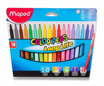 Obrázek produktu Dětské fixy Maped Color'Peps Long Life - 18 barev