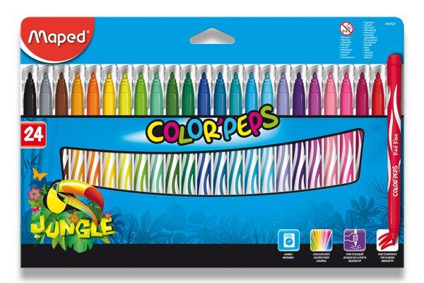 Dětské fixy Maped Color'Peps Jungle 24 barev