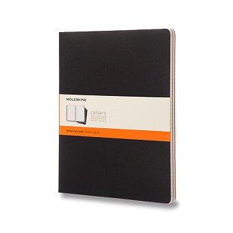 Obrázek produktu Notes Moleskine Cahier - tvrdé desky - XXL, linkovaný, 3 ks, výběr barev