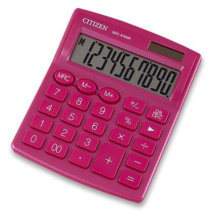 Obrázek produktu Citizen SDC-810NR - kancelářský kalkulátor - růžový