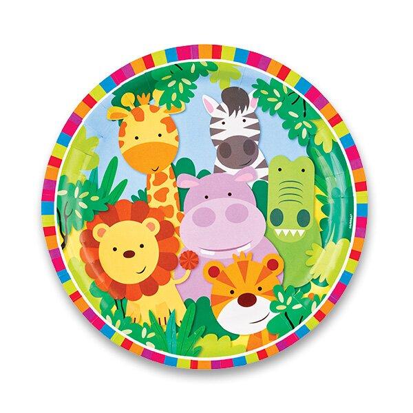 Papírové talířky Jungle průměr 23 cm, 8 ks